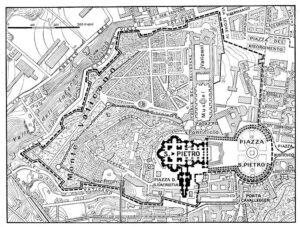La ciudad del Vaticano. Mapa de 1929.